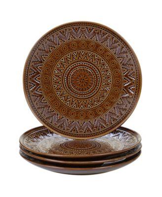 Certified International Aztec Brown 4-Pc. Salad Plates