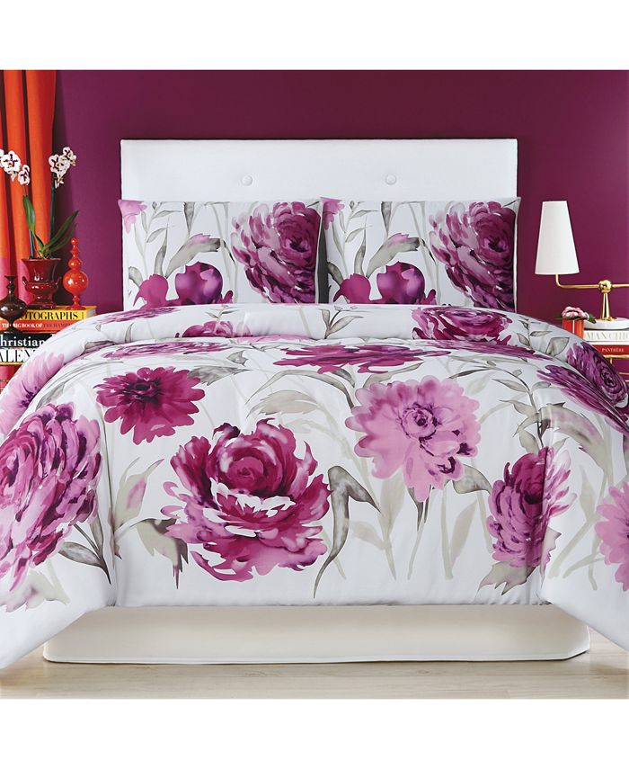 Christian Siriano New York - Remy Floral Full/Queen Duvet Set