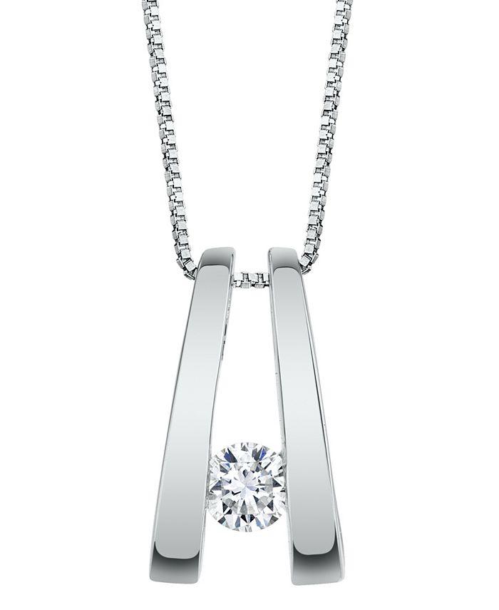 Sirena - Diamond (1/5 ct. t.w.) Twizzler Pendant in 14k White Gold or Yellow Gold