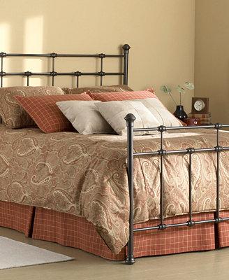 Claremont Hammered Brown Metal Bed mattresses Macy s