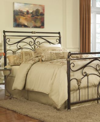 Sovereign Ancient Gold Queen Metal Bed mattresses Macy s