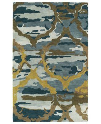 Brushstrokes BRS02-17 Blue 2'6