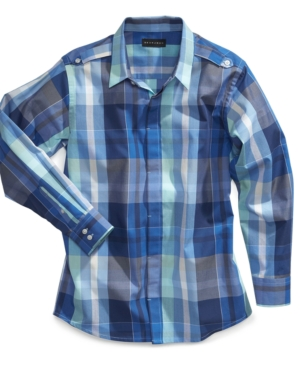 Sean John Kids Shirt Boys Altitude Plaid Shirt
