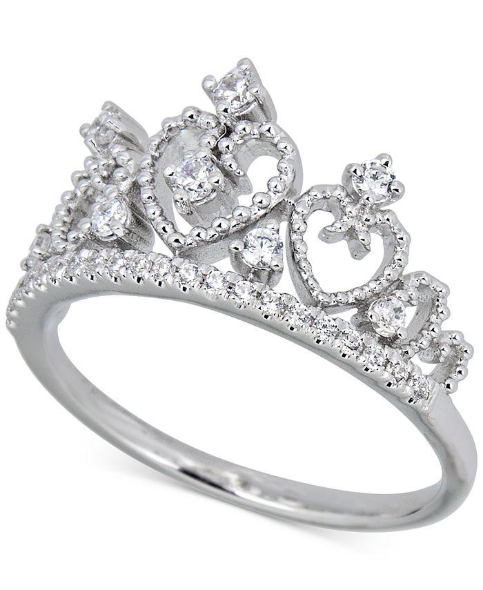 Macy's - Diamond Heart Tiara Ring (1/4 ct. t.w.) in 14k White Gold
