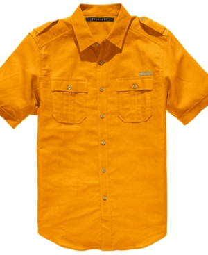 Sean John Shirt Short Sleeve Linen Shirt
