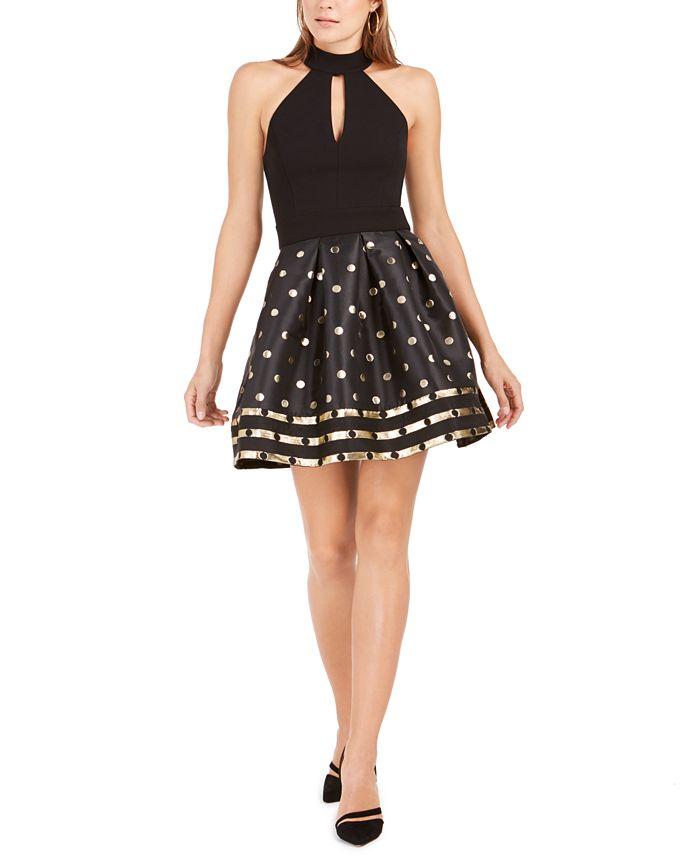 Betsey Johnson - Metallic-Dot Fit & Flare Dress