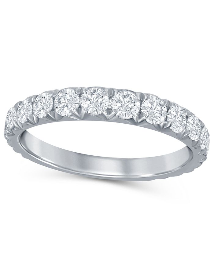 Macy's - Diamond French Pave (1 ct. t.w.)  Band in 14K White Gold