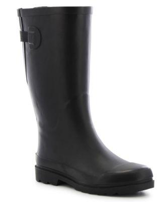 Wide-Calf Rubber Rain Boots