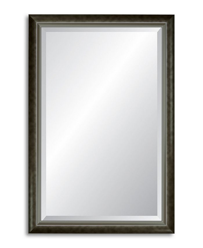 Reveal Frame & Décor - Modern Smoked Silver Beveled Wall Mirror