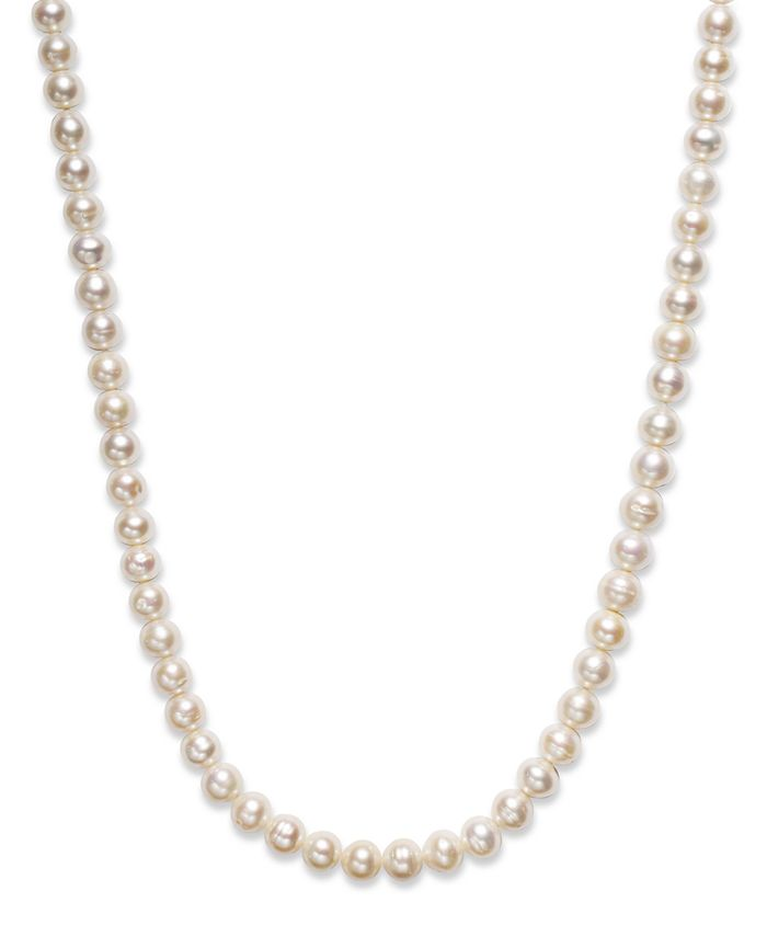 """Belle de Mer - Pearl Necklace, 36"""" Cultured Freshwater Pearl Endless Strand (8-1/2mm)"""