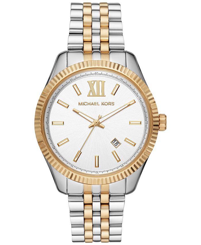Michael Kors - Men's Lexington Two-Tone Stainless Steel Bracelet Watch 42mm