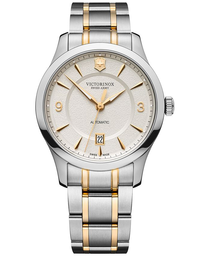 Victorinox Swiss Army - Men's Automatic Alliance Mechanical Two-Tone Stainless Steel Bracelet Watch 40mm