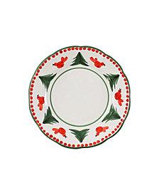 Vietri Uccello Rosso Salad Plate