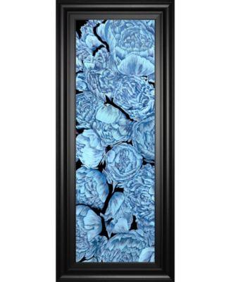"Blue Peonies I by Melissa Wang Framed Print Wall Art, 18"" x 42"""