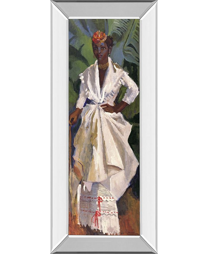 Classy Art Woman In White Ii By Boscoe Holder Mirror Framed Print Wall Art 18 X 42 Reviews All Wall Décor Home Decor Macy S