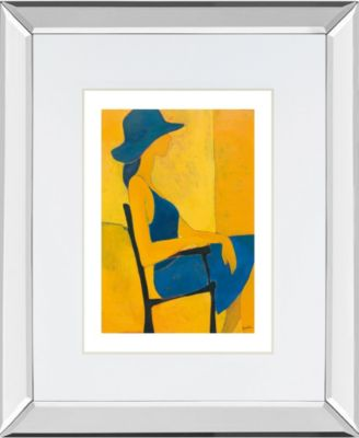 """In View of II by Augustine Mirror Framed Print Wall Art, 34"""" x 40"""""""