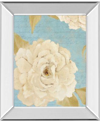 """Scripted Poetic Peonies II by Lanie Loreth Mirror Framed Print Wall Art, 22"""" x 26"""""""