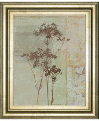 """Silver Foliage II by Ella K. Framed Print Wall Art, 22"""" x 26"""""""