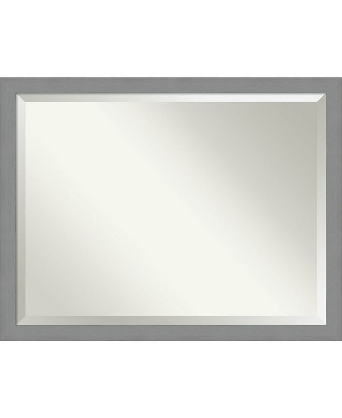 Amanti Art Brushed Framed Bathroom Vanity Wall Mirror 43 5 X 33 50 Reviews All Mirrors Home Decor Macy S