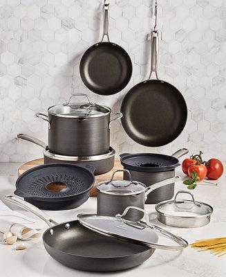 Calphalon Classic 14-Pc. Non-Stick No-Boil-Over Hard Anodized Cookware Set & Reviews - Cookware Sets - Macy's