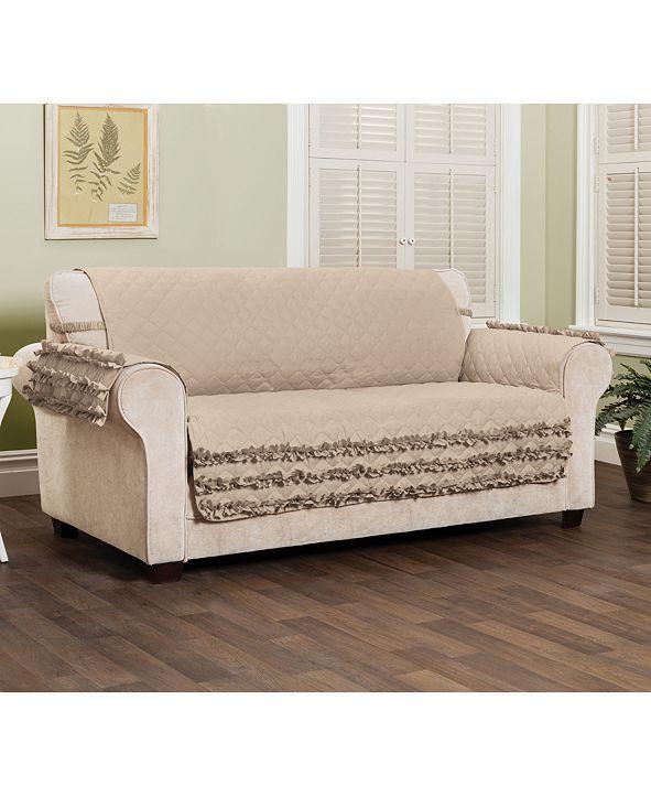P/Kaufmann Home Claremont Ruffled Sofa Furniture Cover