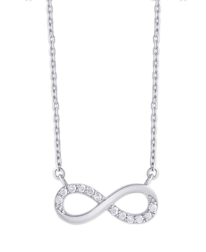 Macy's - Diamond 1/5 ct. t.w. Infinity Necklace in Sterling Silver