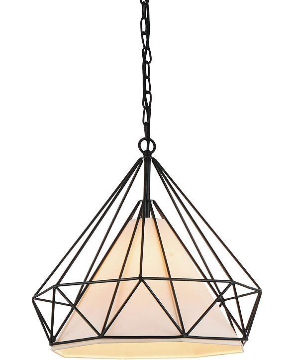 CWI Lighting Diamond 1 Light Chandelier