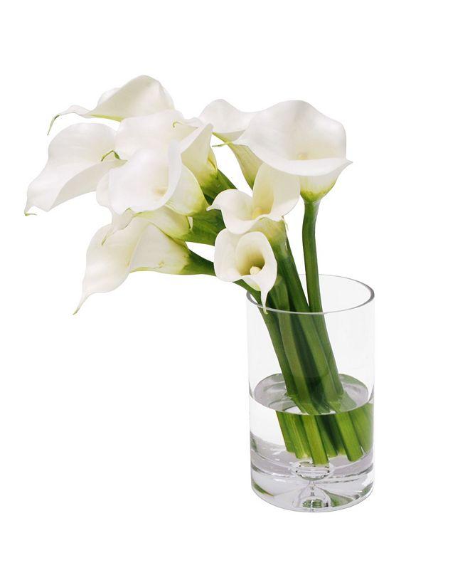 Winward Silks Permanent Botanicals Calla Lily in Vase
