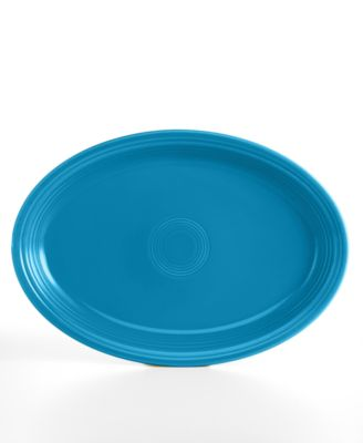 "Fiesta Peacock 19"" Oval Serving Platter"