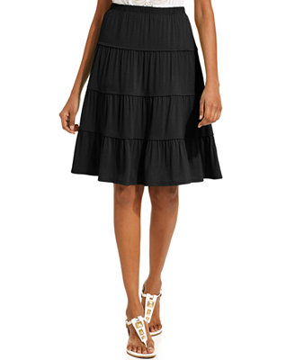 style co a line tiered peasant skirt skirts