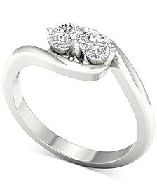 Diamond Twist Statement Ring (1/2 ct. t.w.) in 14k White Gold