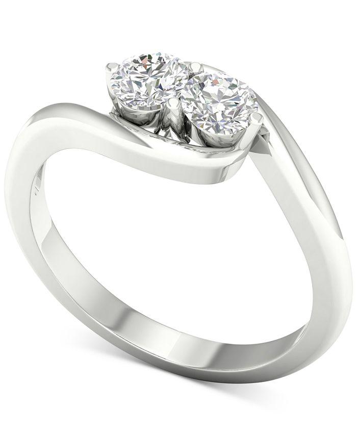 Macy's - Diamond Twist Statement Ring (1/2 ct. t.w.) in 14k White Gold
