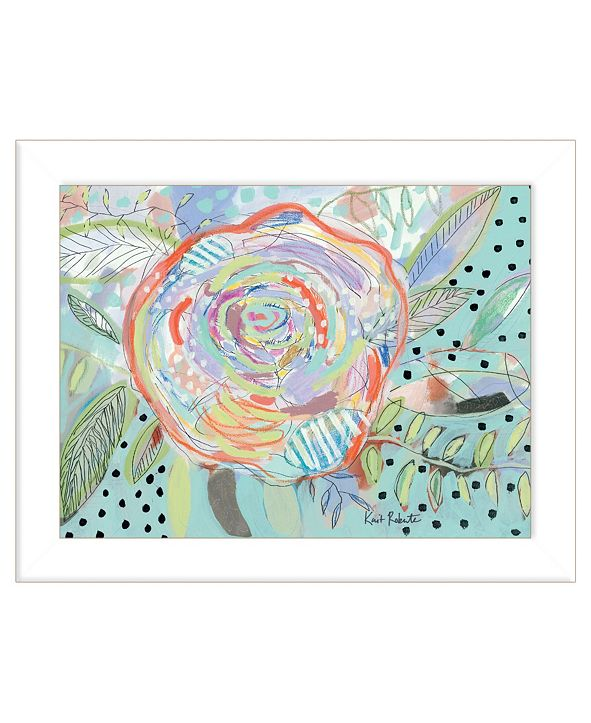 """Trendy Decor 4U Bloom for Yourself by Kait Roberts, Ready to hang Framed Print, White Frame, 19"""" x 15"""""""