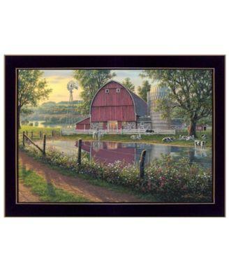 Barnyard Memories by Kim Norlien, Ready to hang Framed Print, White Frame, 20