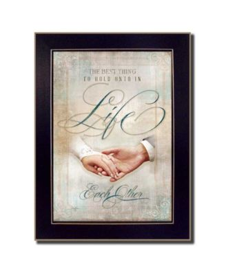 Each Other By Mollie B., Printed Wall Art, Ready to hang, Black Frame, 20