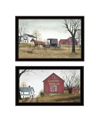 Goin to Market 2-Piece Vignette by Billy Jacobs, White Frame, 33