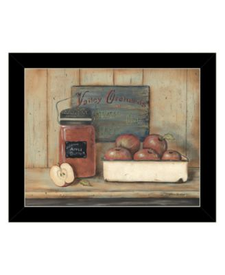 Apple Butter by Pam Britton, Ready to hang Framed print, White Frame, 17