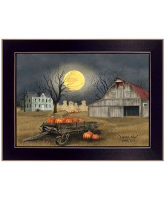 Harvest Moon by Billy Jacobs, Ready to hang Framed Print, Black Window-Style Frame, 19