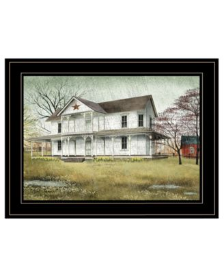 April Showers by Billy Jacobs, Ready to hang Framed Print, White Frame, 19