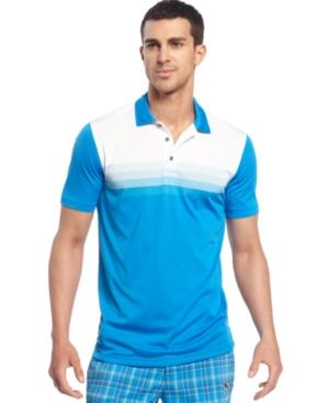 Puma coolCELL Shirt Stripe Tech Cresting Polo Golf Shirt