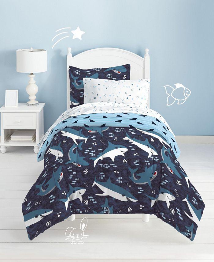 Dream Factory - Sharks 7-Piece Full Bedding Set