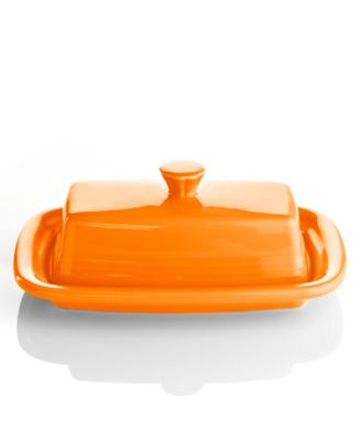 Fiesta Tangerine XL Covered Butter Dish