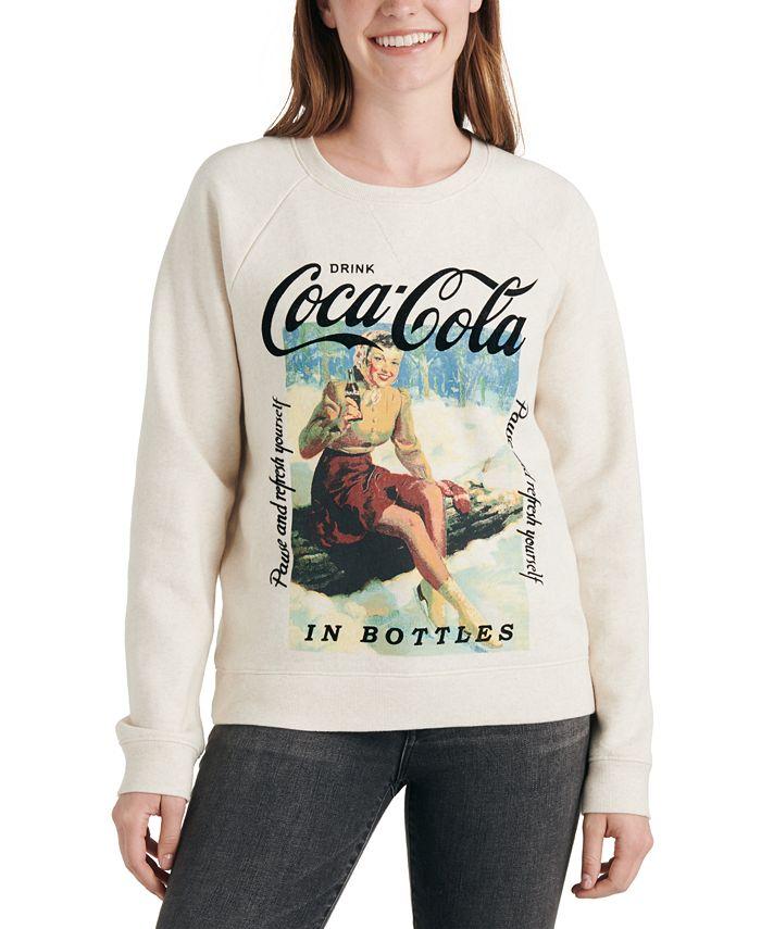 Lucky Brand - Cotton Coca-Cola Graphic Sweatshirt