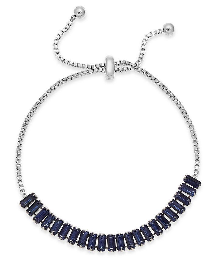 INC International Concepts - Baguette-Crystal Slider Bracelet