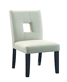 Coaster Home Furnishings Searcy Upholstered Side Chairs with Square Cutout In Seat Back, Set of 2