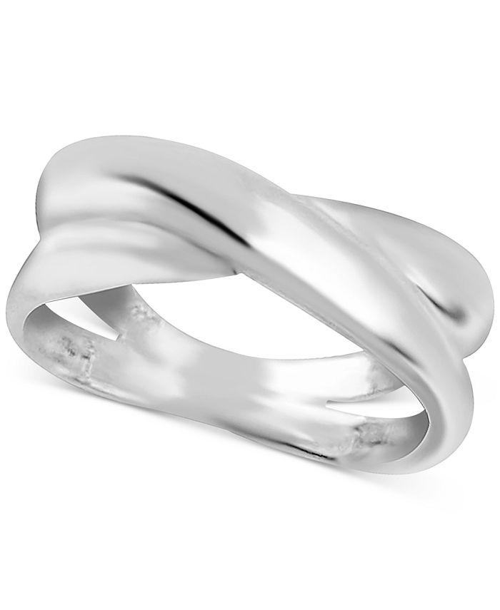 Essentials - Overlap Statement Ring in Fine Silver-Plate