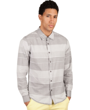 Marc Ecko Cut  Sew Shirt Slim Fit Long Sleeve Button Front Horizon Shirt