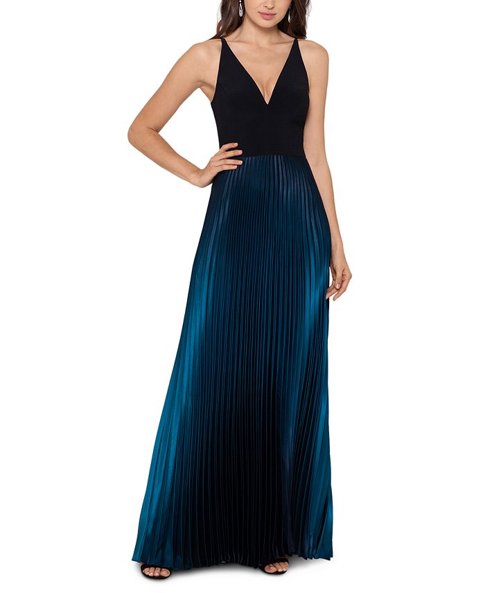 Betsy & Adam - Ombré Pleated Gown