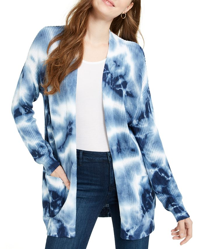 Hooked Up by IOT - Juniors' Tie-Dyed Cardigan