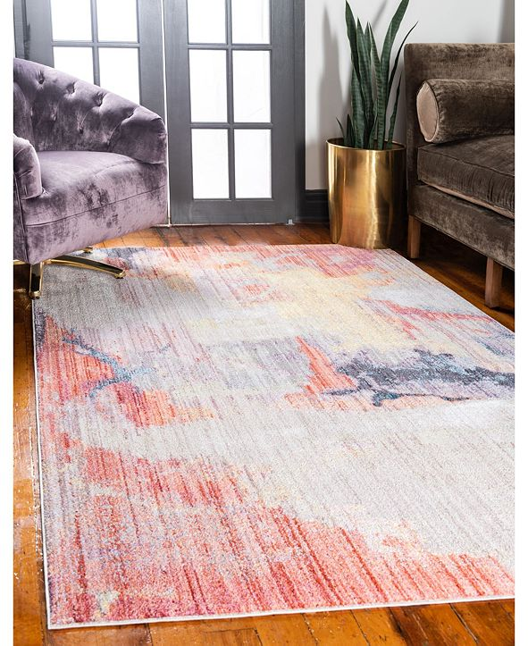 Jill Zarin East Village Downtown Jzd004 Multi 5' x 8' Area Rug